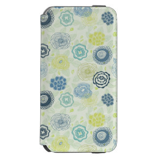 Stylish floral pattern with cute flowers incipio watson™ iPhone 6 wallet case