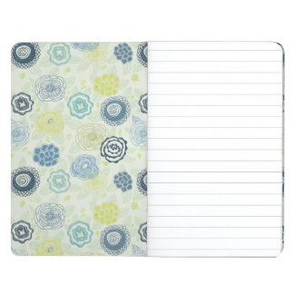 Stylish floral pattern with cute flowers journal