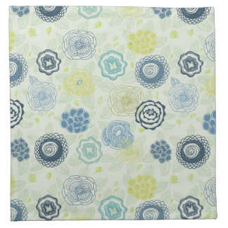 Stylish floral pattern with cute flowers napkin