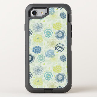 Stylish floral pattern with cute flowers OtterBox defender iPhone 8/7 case