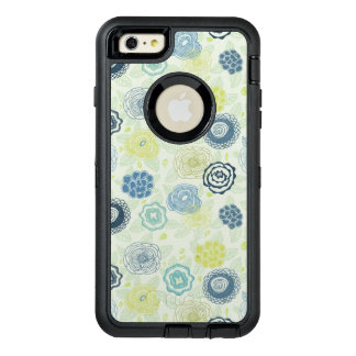 Stylish floral pattern with cute flowers OtterBox defender iPhone case