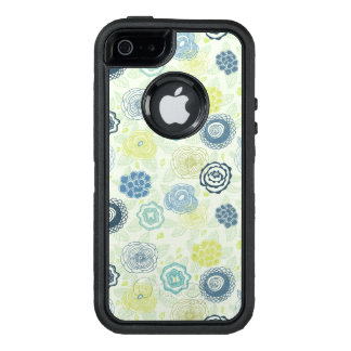 Stylish floral pattern with cute flowers OtterBox iPhone 5/5s/SE case