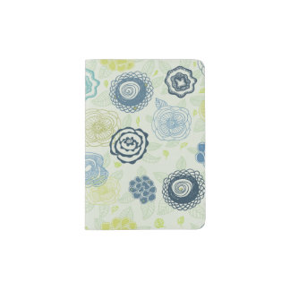 Stylish floral pattern with cute flowers passport holder