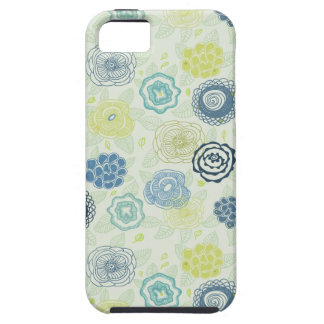 Stylish floral pattern with cute flowers tough iPhone 5 case
