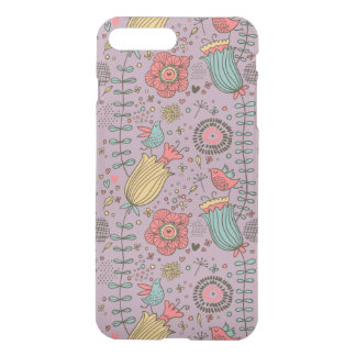 Stylish floral pattern with flowers iPhone 8 plus/7 plus case