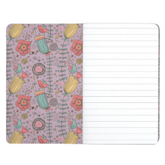 Stylish floral pattern with flowers journals