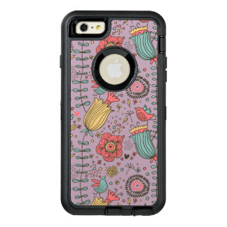 Stylish floral pattern with flowers OtterBox defender iPhone case