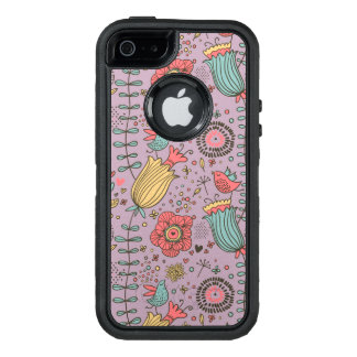 Stylish floral pattern with flowers OtterBox iPhone 5/5s/SE case