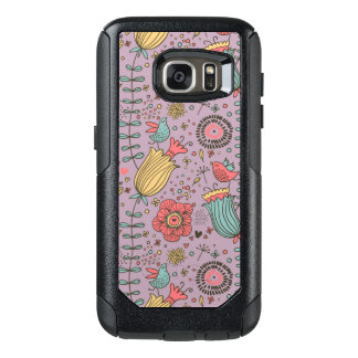 Stylish floral pattern with flowers OtterBox samsung galaxy s7 case