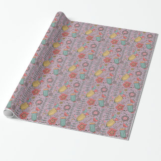Stylish floral pattern with flowers wrapping paper