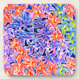 Stylish Floral Watercolour Coasters Set of 6