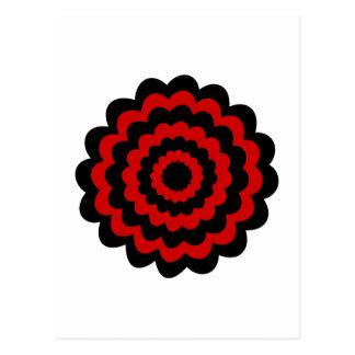 Stylish Flower in Black and Dark Red. Postcard