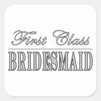 Stylish Fun Bridesmaids Gifts : First Class Brides Square Sticker