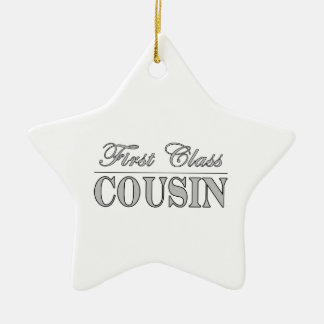 Stylish Fun Cousins Gifts : First Class Cousin Christmas Ornament
