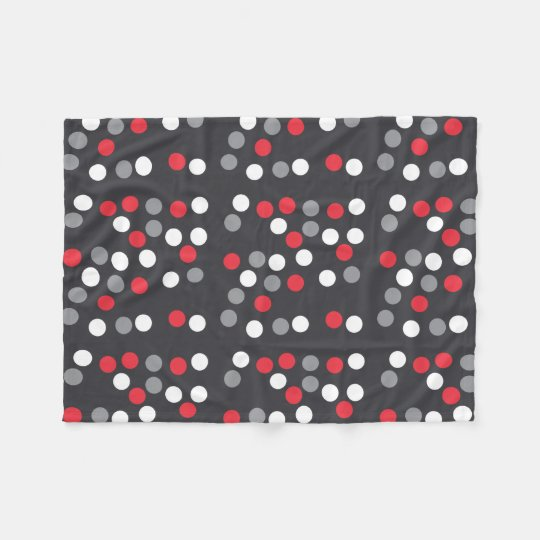Stylish Fun Grey Dotted Fleece Blanket