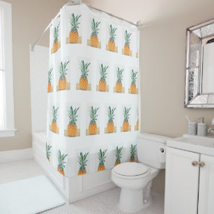 Stylish Funky Pineapple Pattern Shower Curtain