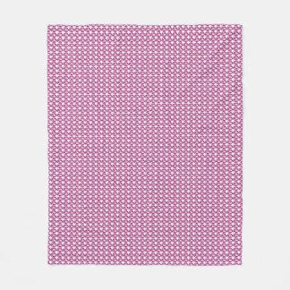 """Stylish Gems"" Plum-Pink-Gems_Designer-Fabric Fleece Blanket"