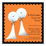 Stylish Ghost Halloween Party Invitation