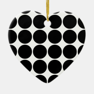 Stylish Gifts for Girls Black Polka Dots on White Christmas Ornament