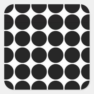 Stylish Gifts for Girls Black Polka Dots on White Sticker