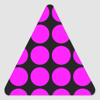 Stylish Gifts for Girls Pink Polka Dots on Black Stickers