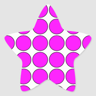 Stylish Gifts for Girls Pink Polka Dots on White Star Sticker