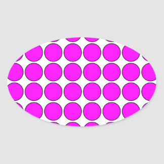 Stylish Gifts for Girls Pink Polka Dots on White Sticker