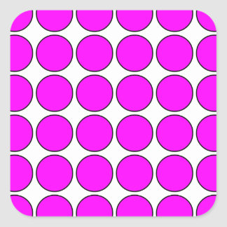 Stylish Gifts for Girls Pink Polka Dots on White Square Stickers