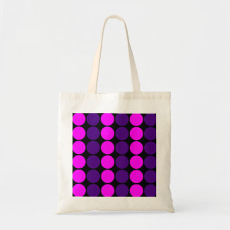 Stylish Gifts for Girls : Pink & Purple Polka Dots Tote Bags