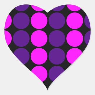 Stylish Gifts for Girls : Pink & Purple Polka Dots Heart Sticker