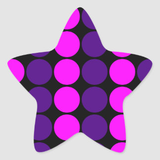 Stylish Gifts for Girls Pink Purple Polka Dots Star Stickers