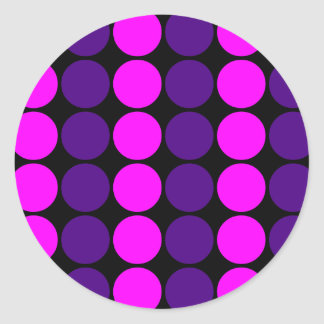 Stylish Gifts for Girls Pink Purple Polka Dots Stickers