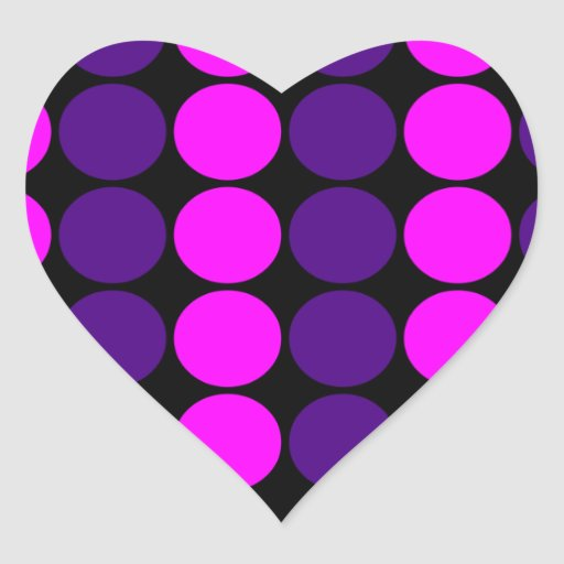 Stylish Gifts for Girls : Pink & Purple Polka Dots Stickers