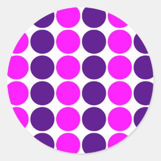 Stylish Gifts for Girls Pink Purple Polka Dots Sticker