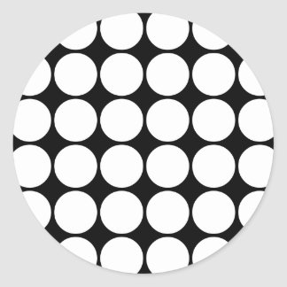 Stylish Gifts for Girls White Polka Dots Sticker