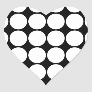 Stylish Gifts for Girls White Polka Dots Heart Stickers