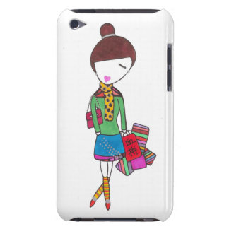 Stylish girl shopping on ipod touch iPod touch case