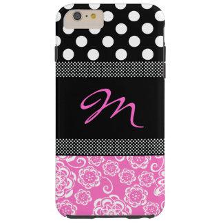 Stylish Girly Monogram iPhone 6 Plus Case