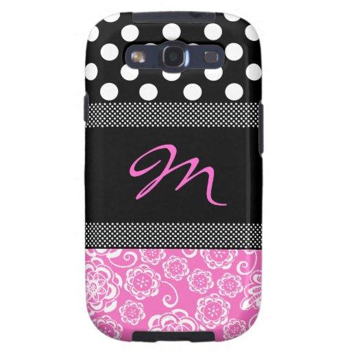 Stylish Girly Monogram Samsung Galaxy S3 Case