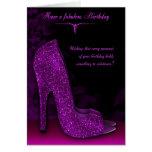 Stylish Glamour Shoe Birthday Greeting Card