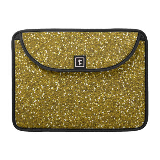 Stylish Glitter Gold MacBook Pro Sleeves