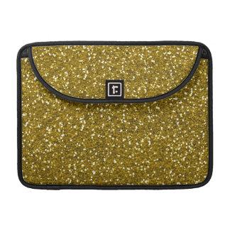 Stylish Glitter Gold Sleeve For MacBook Pro