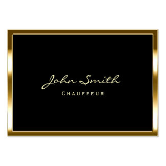 Stylish Gold Border Chauffeur Chubby Business Card
