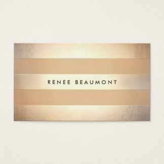 Stylish Gold Colored Striped Designer and Stylist Business Card