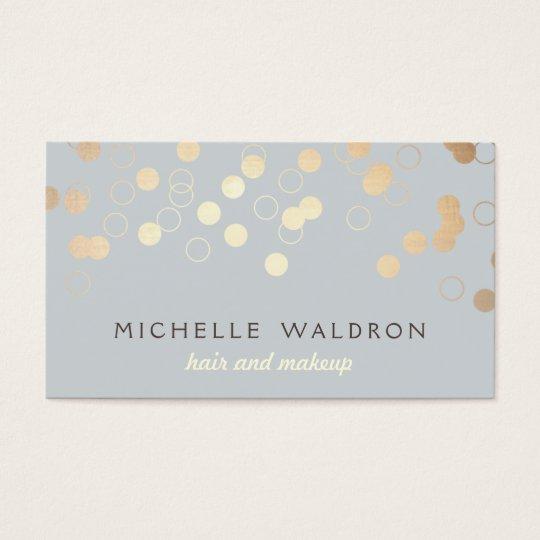 Stylish Gold Confetti Beauty Makeup Artist Grey Business