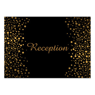 Stylish Gold Confetti Dots | Black Pack Of Chubby Business Cards