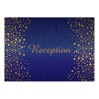 Stylish Gold Confetti Dots | Blue Sapphire Large Business Cards (Pack Of 100)