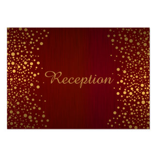 Stylish Gold Confetti Dots | Deep Dark Red Pack Of Chubby Business Cards