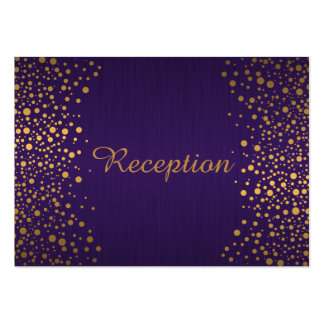 Stylish Gold Confetti Dots | Purple Large Business Cards (Pack Of 100)