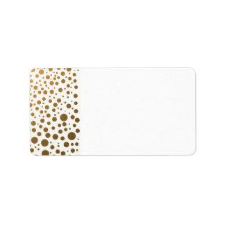 Stylish Gold Foil Confetti Dots Label